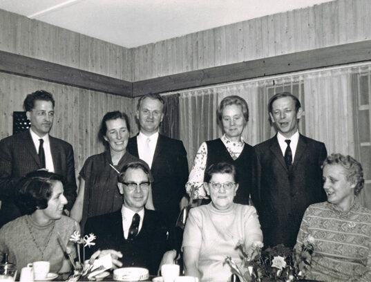 Die Kinder Binne Roordas in den 1960ern mit Maaike de Zoete in der Mitte